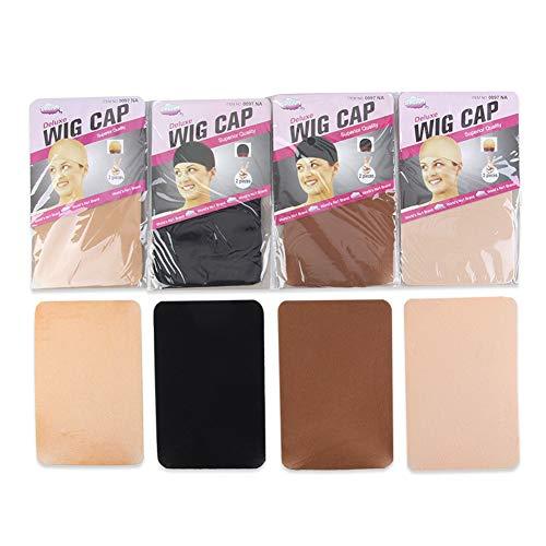Beauty Wish Lot de 5 filets élastiques à cheveux en maille filet pour cosplay Noir