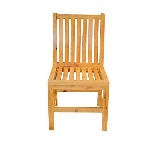 Fauteuils berçants Tabouret grande chaise tabouret de fumigation en bois massif pieds de mousse pour le dos (Color : Solid wood color, Size : 39 * 39 * 67cm)
