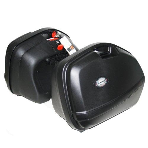 KAPPA - K33N coppia valigie laterali MONOKEY SIDE nere goffrate 33 litri