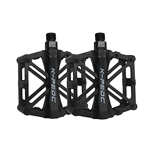 Mountain Bike Pedals, 9/16 Inch Spindle Aluminum Alloy Platform Pedals for Road BMX MTB Bike