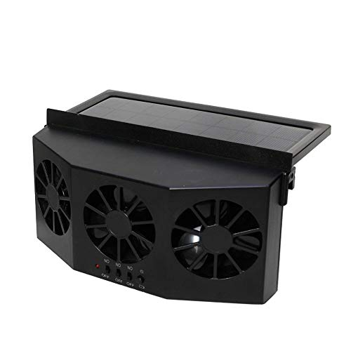 LSN Best Solar Energy Vehicle Exhaust Fan, Radiator Car Window Windshield Solar Power Air Vent Cool Exhaust Dual Fan, System Cooler A/A