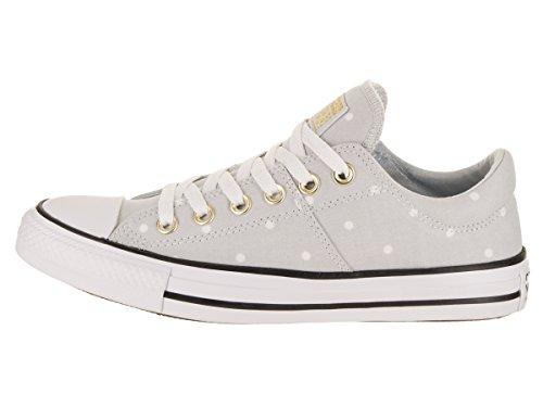 Converse Madison Mini Dots - Zapatillas bajas para mujer, gris (Platino puro/Dorado/Blanco), 38.5 EU