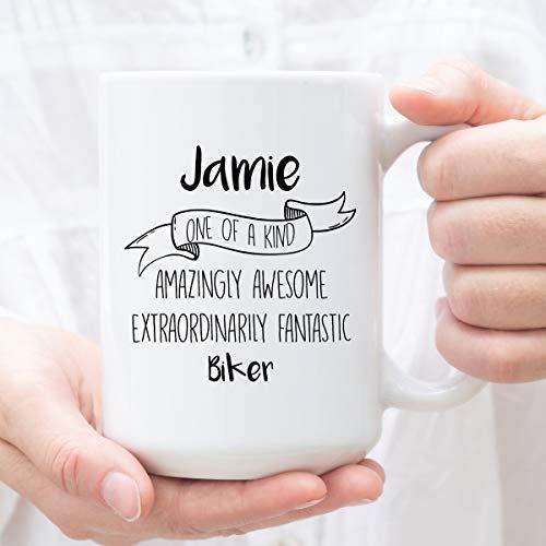 DKISEE Taza personalizada del té del café del café para el ciclista, regalos personalizados para el motorista, perfecto para el motorista