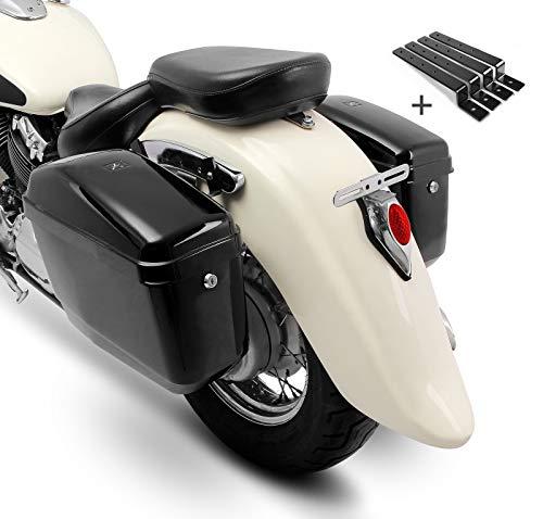 Borse Laterali rigide Compatibile con Moto Guzzi V9 Bobber/Sport NVK