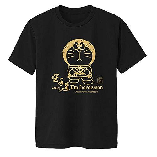 BLKGLD Mサイズ I'm Doraemon(アイム ドラえもん) 空手 Tシャツ 半袖 ライナースポーツオリジナル