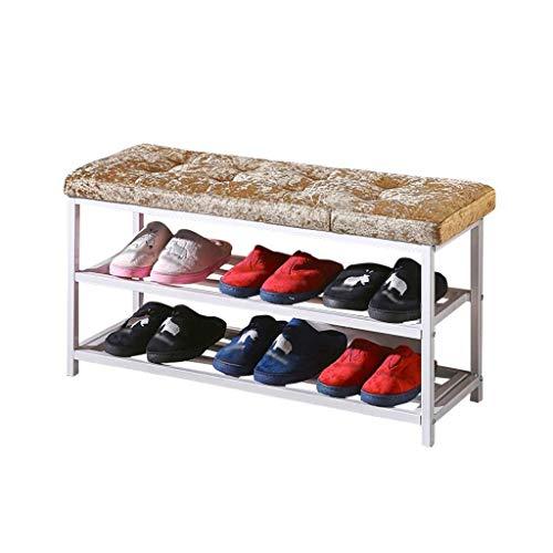QNDDDD Zapatillas Organizan el Estante de Zapatos Bench Pasillo de Banco Cambiar...
