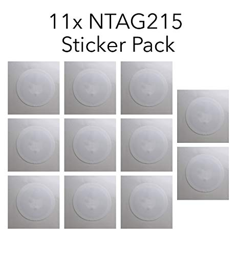 GreatestDeals NTAG215 25mm NFC Stickers 100% Guaranteed to Work Perfectly with TagMo! Bulk Available! (10 Pieces + 1 Bonus!) (11)