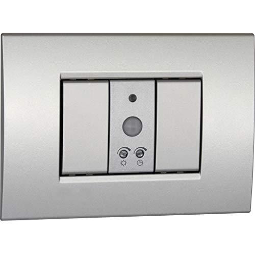 Vemer VE765200 Rilevatore di Movimento Sens IR con Installazione su scatole da incasso, 230 V, Argento Tech