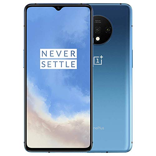 OnePlus 7T HD1907, 8GB RAM + 128GB Memory, GSM 4G LTE Unlocked for AT&T T-Mobile, Single Sim, US Model (Glacier Blue) (Renewed)