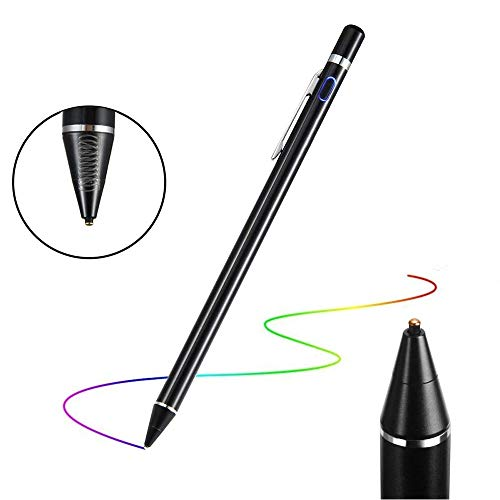 Flybiz Attivo Precisione 1.45mm Penna Pennino Capacitivo Touch Screen Stilo per iPad, Tablet, iPhone, con Punta di Fibra per Dispositivi Schermi Touch