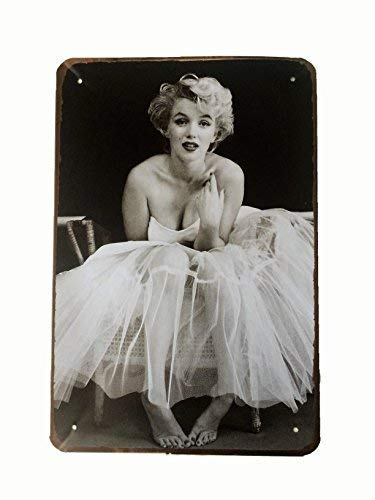 DiiliHiiri Cartel de Chapa Vintage Decoración, Letrero A4 Estilo Antiguo de metálico Retro- Marilyn Monroe