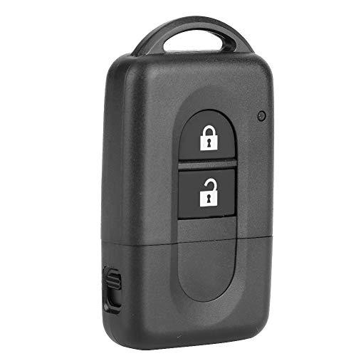 Caja de llave ABS de tamaño compacto, caja de llave remota portátil, carcasa de llave, 2 botones Nissan Note para Nissan X-Trail Nissan Qashqai Nissan Micra