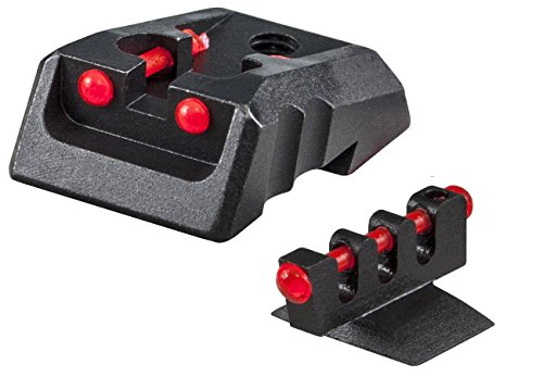 Check Out This 1911 Fixed Red Fiber Optic Sight Set, Contour Base Red Fiber Optic Front