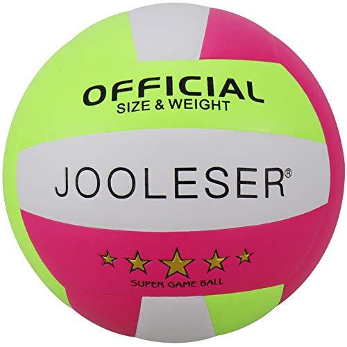 JOOLESER Voleibol de Playa de Tacto Suave, Tamaño 5 Oficial para Interiores y Exteriores (Rojo)