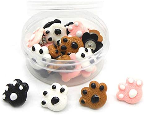 Easy-to-use RLECS 30pcs Sale special price Creative Paw Print Thumb Pins Push Tacks Animal