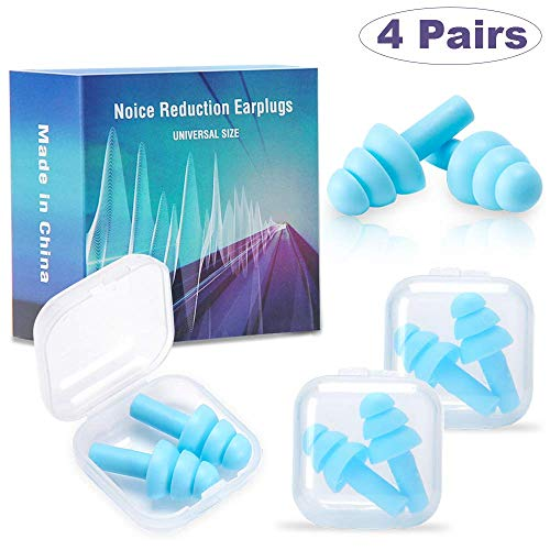 Ear Plugs for Sleeping - Soft Silicone Ear Plugs That Block Out Snoring...