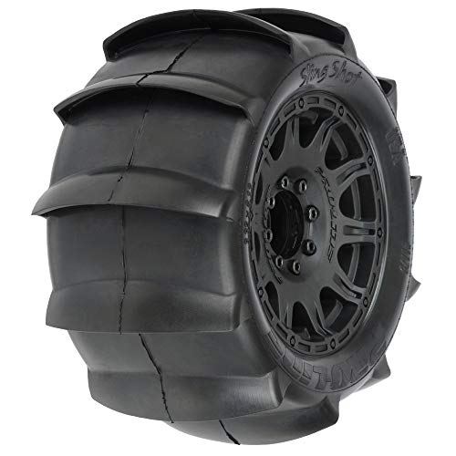 Pro-line Racing Sling Shot 3.8 Sand Tires, Raid Wheel (2), PRO117910
