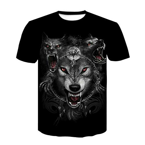 ASHGNV Timberwolves Camiseta para Hombre con Estampado en 3D, Camisetas Informales de Verano de Secado rápido, Novedad, Camiseta de Manga Corta-XL