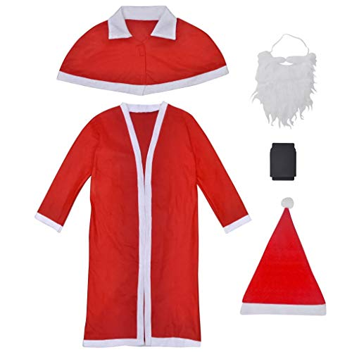 Cikonielf - Disfraz de Papá Noel para hombre (5 unidades)