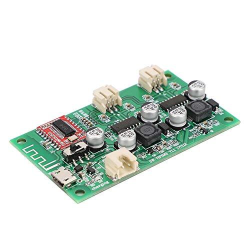 ASHATA Bluetooth versterkerplaat, 2 x 6 W modificatie-stereoluidsprekers Bluetooth versterkerplaat met hoge geluidskwaliteit, 5 V DC-audio-versterkerplaat.