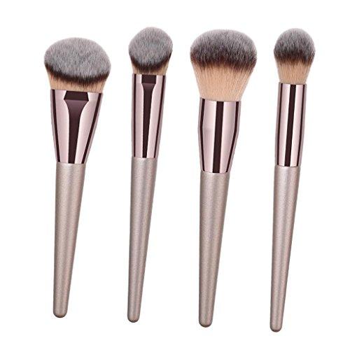 MERIGLARE La Base De Cosmétiques De Brosses De Maquillage De Kabuki Professionnel Composent Des Outils De Brosse - 4pcs
