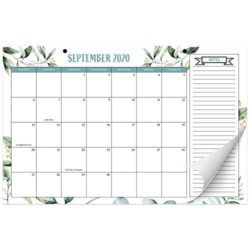 Beautiful 2020-2021 Greenery Desk Calendar 17' x 11' - 18 Month...