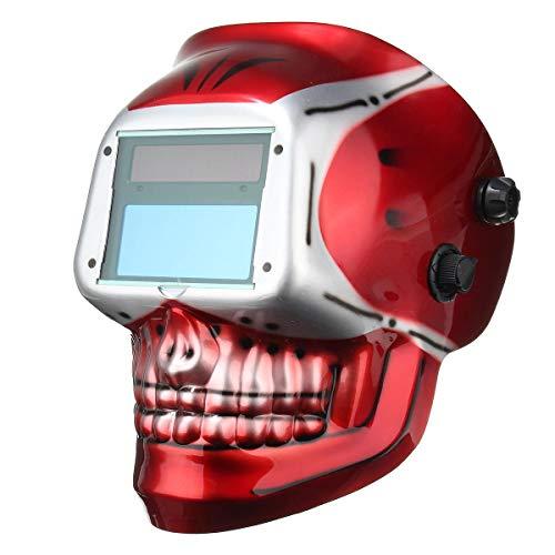 Casco de soldadura, Máscara de protección Arco Mig Tig Molienda de oscurecimiento auto solar casco de soldadura autógena,gafas protectoras