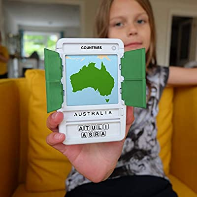 100 PICS Countries of The World Quiz Card Game Educational Puzzle Kids Adults UK