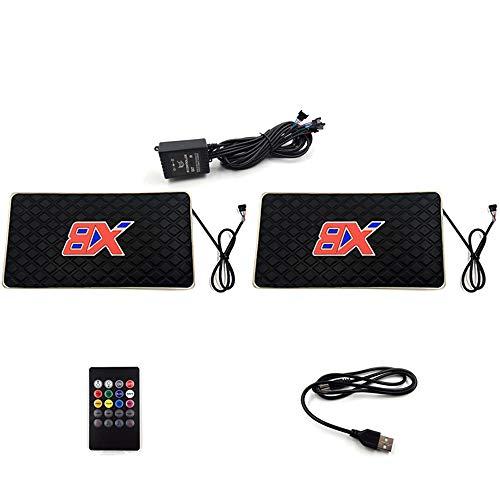 MHUI Auto-Fußmatten LED Bunte Fußmatten In-Car Sound Control Beleuchtung, EIN für Zwei (Zwei Schnittstellen sind optional),USB Interface