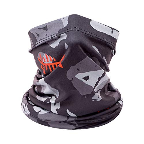 Bassdash Multifunktionstuch Herren Schlauchschal Halstuch Sonnenschutz UPF 50+ Elastisch Schlauchtuch Winddicht Nackenwärmer für Angeln Ski Wandern Reiten Motorradfahren