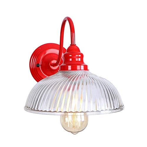 Moderno Luces de pared moderna industrial con el interruptor de lámparas de pared de luz Cortina de cristal apliques de Herrajes for Espejo de baño Dormitorio Sala Loft Bar Cafetería lámpara de pared