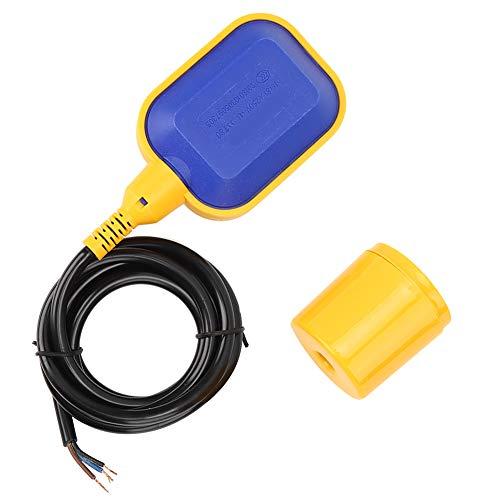 BERM Schwimmerschalter Wärmebeständigkeit FQ2 Wasserstandssensor Automatischer Kabelwasserstandsregler für Tank, Pumpe(2M)