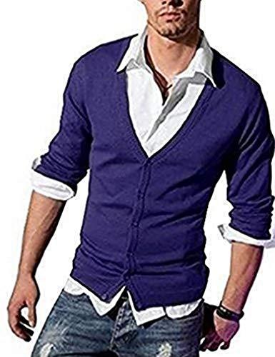 100% tendance Cardigan de John Devin en violet - Violet, Homme, XL