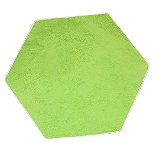Homyl Tappetto Tenda Cuscino Forma Esagonale Morbido Decor Soggiorno Bambino - Verde