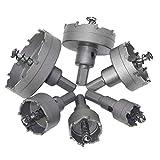 Runfon Sierra de perforación Diente Kit aleación del núcleo Broca del Sistema de Herramienta de Corte de Metal de Madera 6pcs