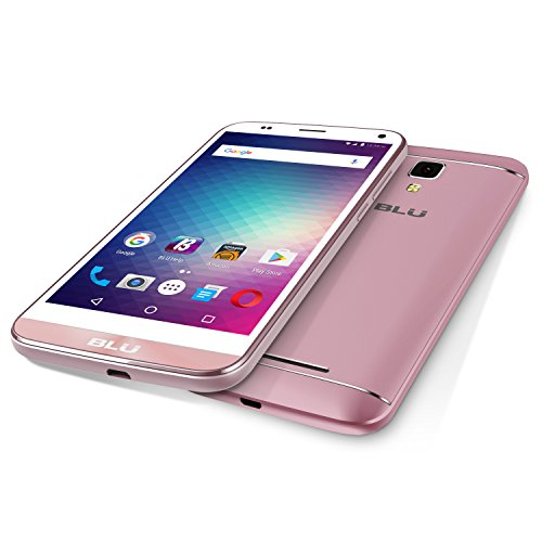 "BLU Dash XL - 5.5"" Global GSM Unlocked Smartphone - 8GB 1GB RAM - Rose Gold"