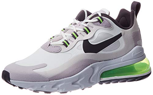 Nike Air Max 270 React, Chaussure de Piste d'athltisme Homme, Bianco Summit White Electric Green Vapste Grey Silver Lilac Thunder Grey, 40 EU