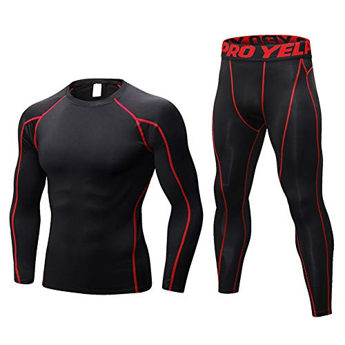 Conjunto de ropa interior térmica para hombre, camiseta de cuerpo y pantalón...