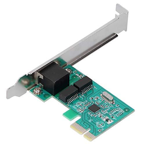 Sxhlseller Tarjeta de Red Gigabit Tarjeta de Red PCI-E 1000M Autoadaptación Controlador Totalmente Compatible Tarjeta Gigabit Gratuita para Computadora de Escritorio