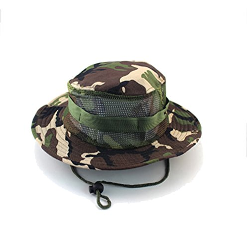 HIDOUYAL Outdoor Hut Sonnenschutz Schatten abgerundeten Kanten Kopfbedeckung Alpine Hüte CP Tarnung Dschungel Hats Ben nepalesische Kappe Hat Frauen/Männer (#1 Grün-Atmungsaktiver Mesh-Hut)