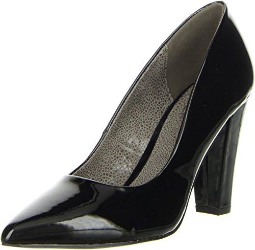 BULLBOXER Damen Pumps Lackoptik schwarz, Größe:41, Farbe:Schwarz