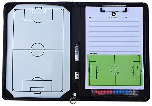 Sportacular Gear Coach-Mappe Fußball inkl. Taktitafel und Zubehör | Trainermappe | Taktikmappe für Fußballtrainer |