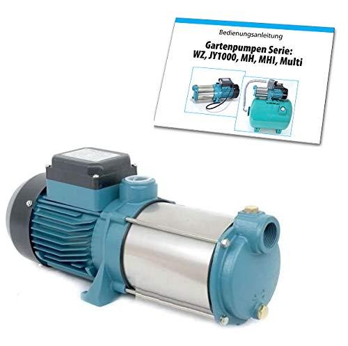Edelstahl Kreiselpumpe Gartenpumpe 1300W/230V 6000 L/h INOX