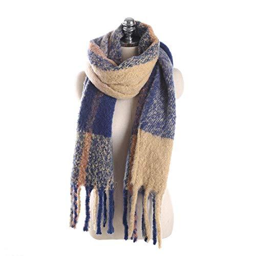 Schal Damen Winterschal Plaid Frauen Schals Wrap Warm Vintage Poncho Lange Pashmina Schals Decke Schal K.