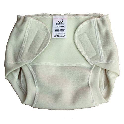 Windelhöschen aus Wolle, Lenya Wolwikkel, Größe N (Newborn) bis 6,5 kg, mit Klettverschluss