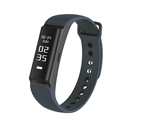 Urban S+, PWB-250 Fitness Band Activity Tracker with HRM Heart Rate Monitor Sleep Monitor Steps Pedometer Distance Exercise IP68 Waterproof Calories Track Interchangeable Bracelet (Dark Blue, Medium)