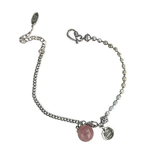 925 Sterling Silber Erdbeer Marmelade Armband Weibliche Einfache Retro Wilde Student Sterling Silber Armband