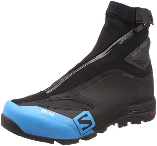 SALOMON Unisex-Erwachsene S/lab X Alp Carbon 2 GTX Stiefeletten, Schwarz (Black/Black/Transcend Blue 000), 41 1/3 EU