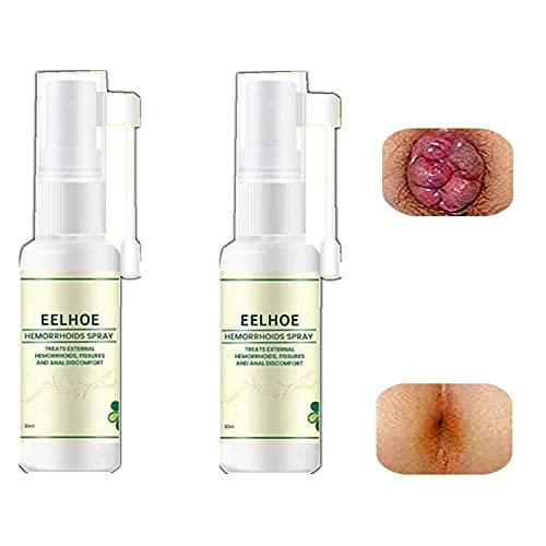 Natuurlijke Kruiden Aambeien Spray, 2021 Nieuwe Natuurlijke Kruiden Aambeien Spray, Anale Relief Spray, Verlichten Pijn, Jeuk, Reinigt Voor Interne & Externe Behandeling (2st)