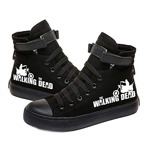 Adfjhoiugk The Walking Dead Schuhe Schuhe Schuhe Trendy beiläufige Art und Weise Wilder Sport Mann und Frau, Herbst und Winter Unisex (Color : Black02, Size : EU40 US8.5)